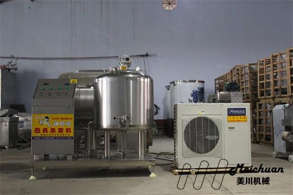 奶吧设备-单水箱罐内制冷巴氏杀菌机